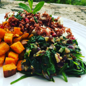Red Rice, Pomegranate and FetaSalad